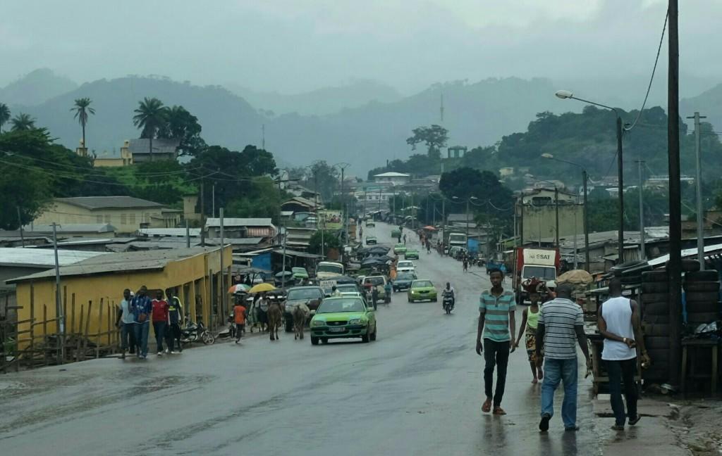 Me voici à Man, ville située à l'ouest de la Côte-d'Ivoire.