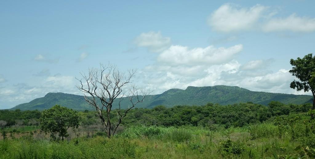 Au fond de l'horizon se dresse un nouveau pays j'ai Guinée en toile de fond