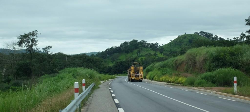 J'ai retrouvé les belles collines, douce et verdoyante, de la Guinée forestière.