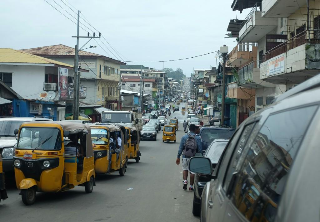 Une rue de Monrovia