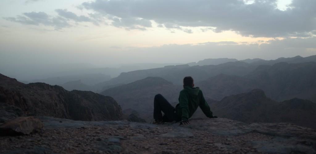 """Je passerai ma nuit au sommet du col, avec une vue de """"toit du monde""""."""